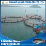 Mar profundo que abre a gaiola circular dos peixes da cultura aquática