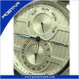 Wasser-beständiger Edelstahl-Uhr-Kasten der Form-Quarz-Uhr-5ATM