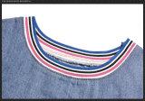 T-shirt folklorique estampé par chemise courte de cru pour des dames