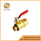 1.5 válvula de cobre amarillo plateada cromo de la pulgada Dn40 para el circuito de agua