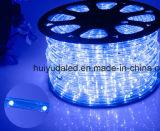 LED-Seil-Licht/im FreienLight/LED Streifen-Licht/Neonlicht/Weihnachtslicht/Feiertags-Licht/Hotel-Licht/des Stab-heller Umlauf-zwei Streifen Draht-roten der Farben-25LEDs 1.6W/M LED