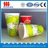 Taza de papel de un sólo recinto del helado