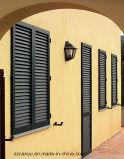 Finestra di legno placcata di alluminio della stoffa per tendine di disegno della griglia di finestra del cliente