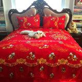 100%Cotton実行中の印刷された寝具は結婚式のためにセットした