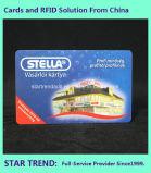 자석 줄무늬 (ISO 7811)를 가진 상점가를 위한 플라스틱 일원 카드