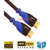 HD plein 2160p pour le câble à extrémité élevé de 4k TV HDMI