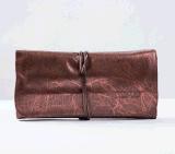 outils cosmétiques de la beauté 18PCS pourprée avec la poche en cuir molle d'unité centrale