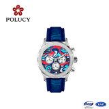 El más nuevo de cuero del movimiento de Japón reloj deportivo Ganuine Relojes de la correa