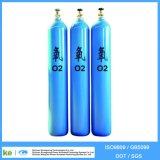 Cilindro de gás do CO2 do hélio do argônio do hidrogênio do oxigênio do aço sem emenda e cilindro de CNG (EN ISO9809 /GB5099)