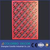 Écran antibruit gravant en relief de fibre de polyester de revêtement de mur