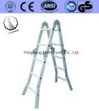 Het Aluminium die van de Tribune van de boom Ladder vouwen