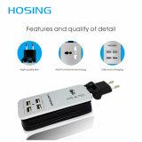 Порта гнезда выдвижения USB 4.2A USB вспомогательного оборудования 4 мобильного телефона заряжатель USB Port Multi домашний