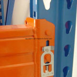 Cremalheira de aço resistente da pálete do armazenamento do armazém do Teardrop dos EUA Q235B