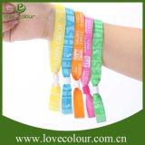 Изготовленный на заказ зрелищность празднества RFID соединяет Wristband ткани случая сплетенный тканью