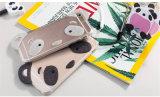La caja de destello del teléfono del polvo TPU de la panda con el collar de la perla para el diseño de la personalidad de las señoras tiene iPhone6puls (XSDD-059)
