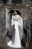 Vestido de casamento Chiffon simples do xaile de Afina