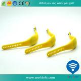 Nuevamente Wristbands del silicón del diseño Tk4100 RFID