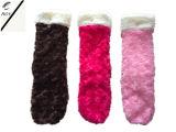 Quattro calzini del velluto della peluche delle donne di colore (RY-SC1621)