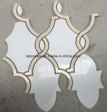 Carrara 목욕탕을%s 백색 Waterjet 대리석 손전등 대리석 모자이크 타일