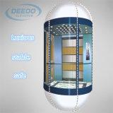 機械部屋のガラス屋内観光のパノラマ式のエレベーター