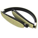 Neckband Foldable retrátil em auscultadores de Bluetooth da orelha