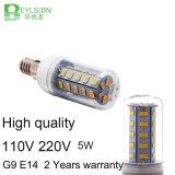 5W AC110V E14 cerámica LED de luz