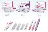 Un nastro di prova dei kit della prova di ovulazione del LH di punto