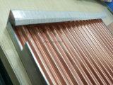 Los paneles de aluminio acanalados para los techos y las paredes