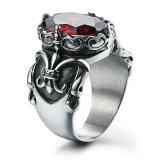 Juwelen van de Ringen van de Mens van het Roestvrij staal van het Titanium van de Stijl van de manier de Uitstekende Punk Antiroest Retro Gegraveerde Dwars