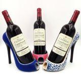 Supporto di bottiglia a forma di del vino del nuovo di stile della resina pattino dell'alto tallone