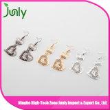 Boucles d'oreille bon marché de boucles d'oreille en gros de coeur fabriquées en Chine