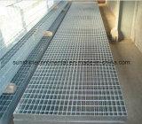 Rejas galvanizadas plataforma galvanizadas sumergidas calientes del suelo de acero de la prolongación del andén de la fábrica