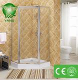 Manufatura de vidro deslizante inoxidável de China do cerco do chuveiro da porta do chuveiro do frame de aço