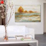 El mar agita la impresión del arte de la lona de la isla del cuadro de la pared