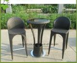 Tabella e presidenza di vimini della barra del patio esterno della mobilia del rattan di svago