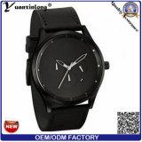 Yxl-399方法熱い販売のメンズウォッチビジネス贅沢な革ステンレス鋼の背部人の腕時計のクロノグラフのメンズウォッチのクロック