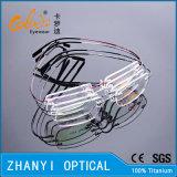 Облегченная Rimless Titanium рамка оптически стекел Eyewear Eyeglass с Hyperelastic (8503-C1)