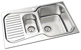 Dispersore di cucina della ciotola del doppio dell'acciaio inossidabile di stile di Oulin