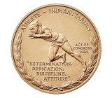 Medalha de ouro barata atrativa feita sob encomenda da maratona da concessão do esporte