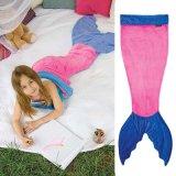 최신 작풍 Flannel 2016 대중적인 인어 테일 담요 니트는 총괄적인 아기 담요를 도매로 모방한다