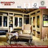 Белый шкаф спальни краски с Louvered стеклянной дверью (GSP9-013)