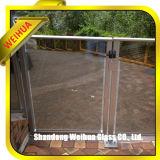 vidrio Tempered curvado 10m m de 12m m para el pasamano