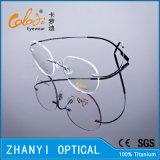 Облегченная Rimless Titanium рамка оптически стекел Eyewear Eyeglass с Hyperelastic (8506-C1)