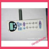 Controles de controle remoto de TV Interruptor de membrana de conector de chave de sobreposição gráfica