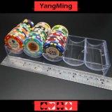 estante de acrílico transparente de la caja de las virutas 100PCS para la bandeja Ym-CT07 de la viruta de póker de 40m m