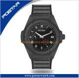 Neuf obtiennent la montre en acier de mouvement de quartz du Japon d'hommes de montre d'OEM de luxe