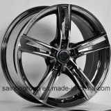 A prata/preto Hyper/cromo rodam bordas da roda da liga do carro F101016