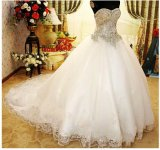 2017 A-Line train de dentelle robes de mariée de mariée Wm1708
