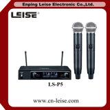 Microfono a doppio canale della radio di frequenza ultraelevata di alta qualità Ls-P5