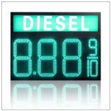 Verde 12 di /Diesel del combustibile gassoso del petrolio/di 7 segmenti un gas di 8 '' 8.889/10 numeri LED di Digitahi/petrolio/schermo della scheda del segno della visualizzazione prezzi della stazione di servizio